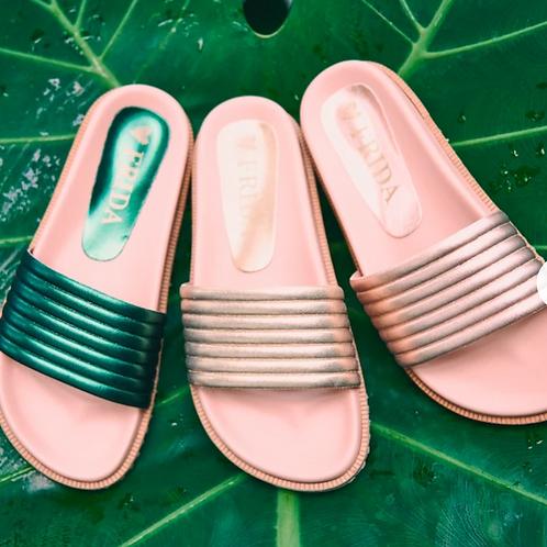 Frida Clovis Sandal Flat Pink