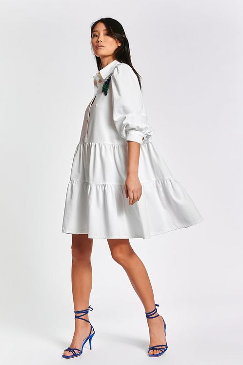 Essentiel Zuniyi Dress White
