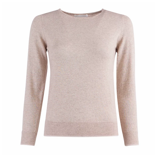 Versailles Round Long Knitwear Camel/Pearl