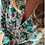 Thumbnail: Dakota Dress Green - pink Flowers