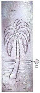 Palm Tree Door Glass