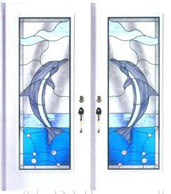 The Dolphin Door Glass