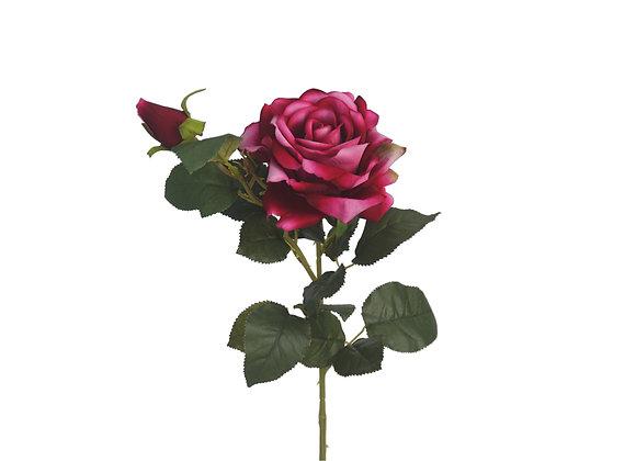 "24"" Rose Spray with 1 Flower & 1 Bud"