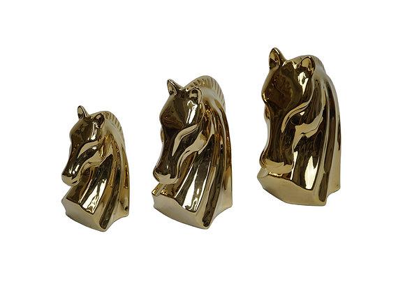 Horse Head Sculpture Set (Set of 3)