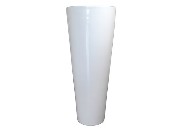 White Resin Vase with Smooth Finish (Cone Shaped)