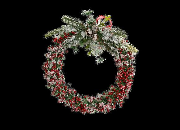 "10"" Snow & Berries Wreath"