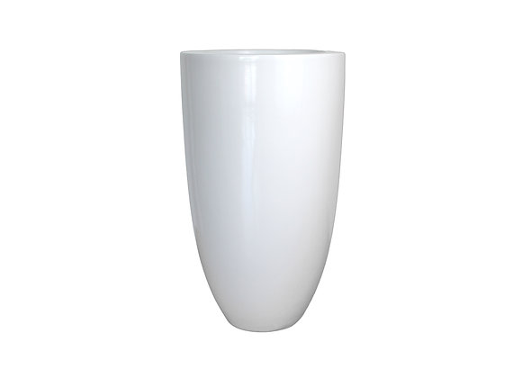 White Resin Vase with Smooth Finish