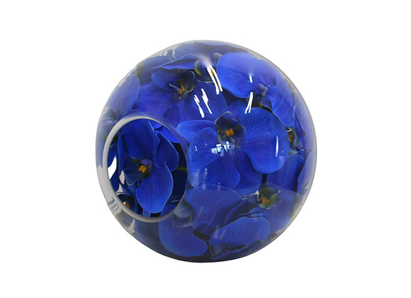 Blue Orchid in Sphere Vase