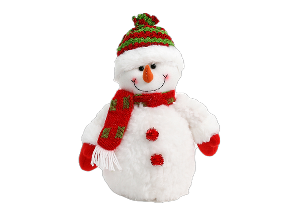 """12.5"""" Snowman with Red Scarf"""