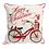 """Thumbnail: 16"""" x 16"""" Pillow with Embroidered Bicycle"""