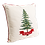 """Thumbnail: 16"""" x 16"""" Pillow with Embroidered Christmas Tree"""