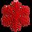 """Thumbnail: 13.5"""" Velvet Snowflake Ornament"""
