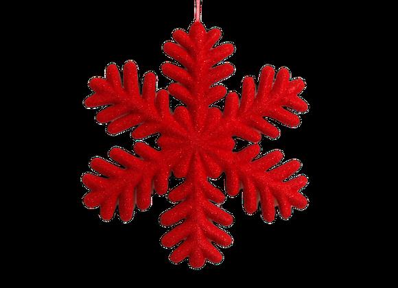 """13.5"""" Velvet Snowflake Ornament"""