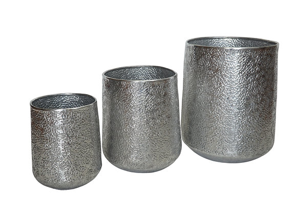 Aluminum Silver Planter