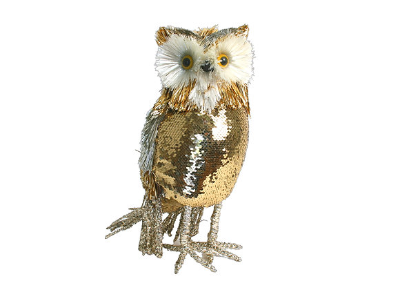 """14"""" Sequin Owl"""