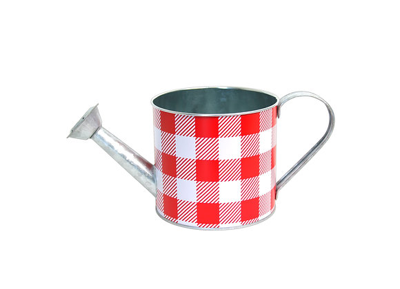 Galvanized Checkered Watering Can