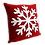 """Thumbnail: 16"""" x 16"""" Pillow with Embroidered Snowflake"""