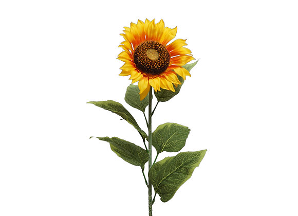 """36"""" Sunflower Stem with 6 Leaves"""