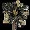 """Thumbnail: 26"""" Velvet Poinsettia with Glitter Edges"""