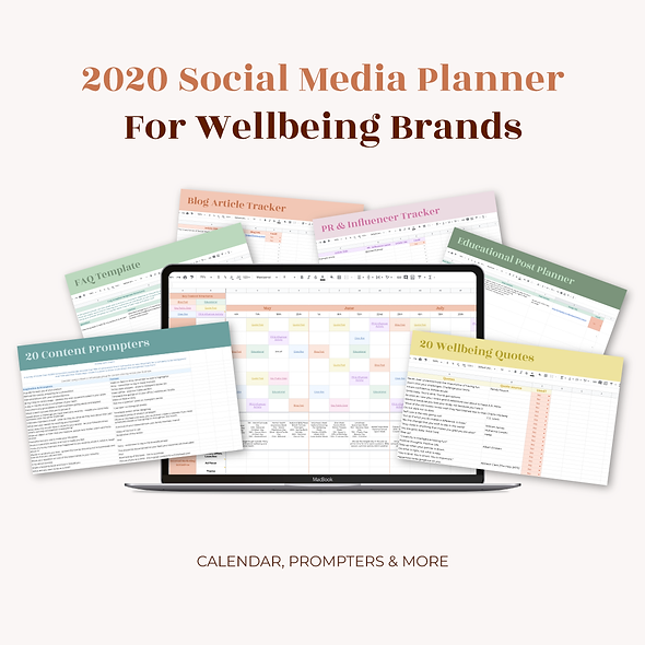 2020 Social Media for Wellbeing Brands Calendar & Planner