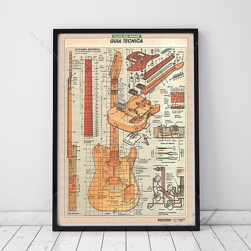 NT583 Guitar Tuner Patent 1951 Music Instruments Gift Oil