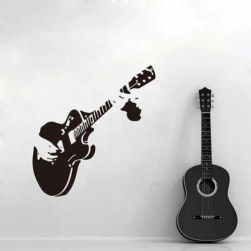 Music Guitar Wall Stickers