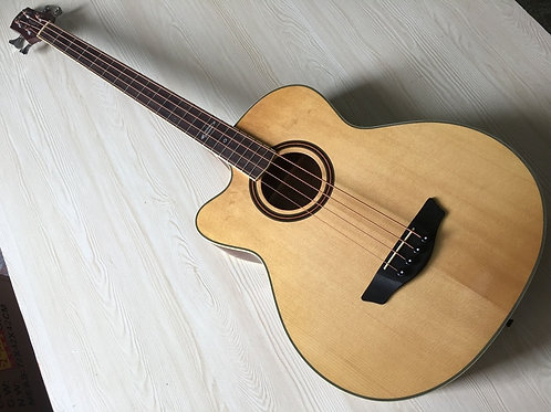 Natural Color 43 Inch Left Hand Acoustic Bass Guitar