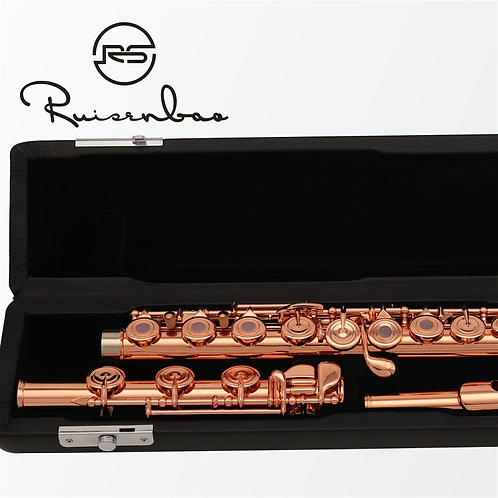 High Quality Rose Gold Plated Flute French 17 Keys