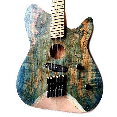 Musoo Brand 6 Strings Fanned Fret Headless Electric Guitar
