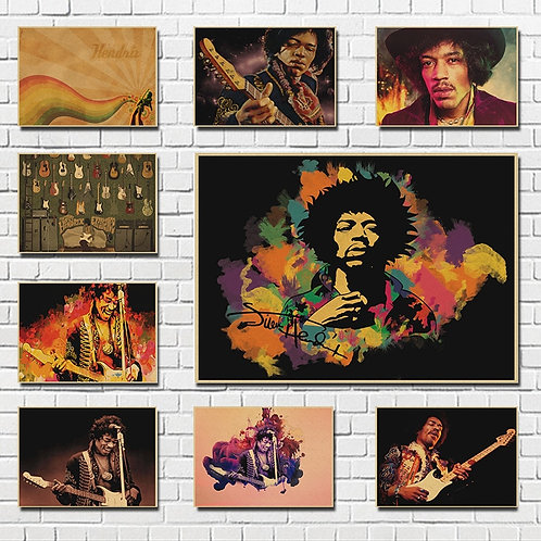 "Electric Guitar God Jimi"" Hendrix Poster"