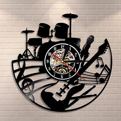 Guitar and Drum Kits Wall Clock