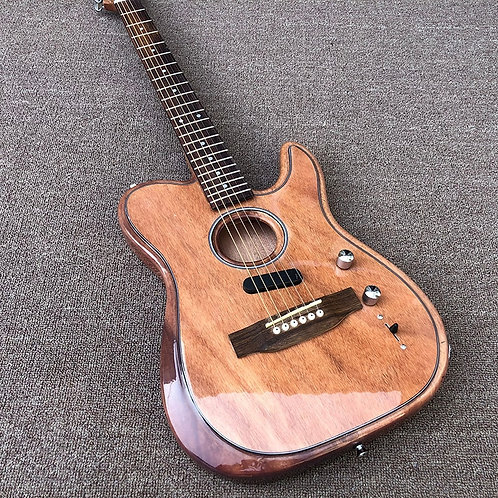 2020 NEW TL Style Electric Guitar,Hollow Body With Rose Xylophone Bridge