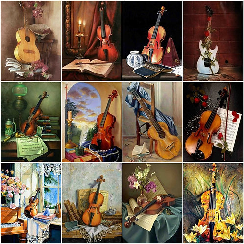 HUACAN Paint by Number Guitar