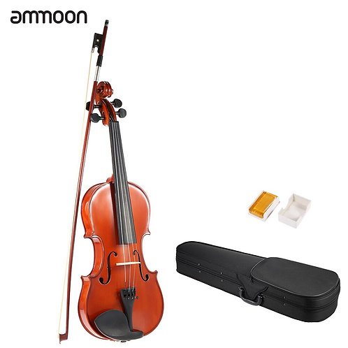 Ammoon 4/4 Full Size Violin Fiddle Solid Wood Antique
