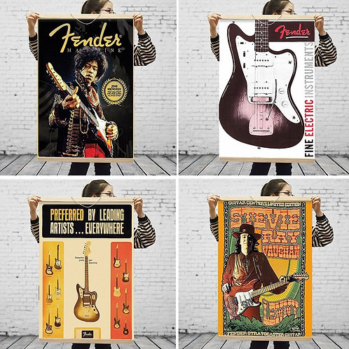 Fender Guitar Rock Musical Instrument Poster