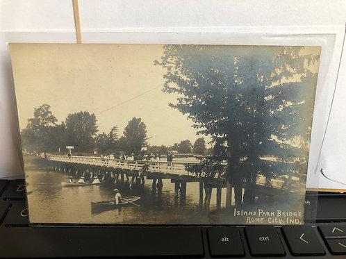Rome City, Indiana Island Park Bridge 1915