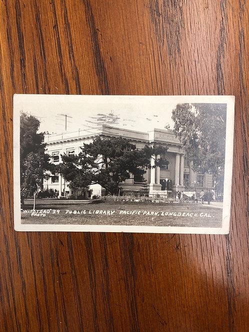 Long Beach, California - public library -1922