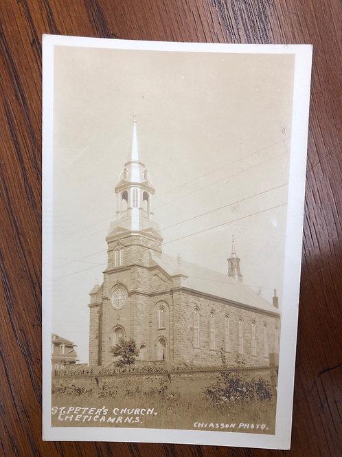 Cheticamp, N.S - St Peters church 1948