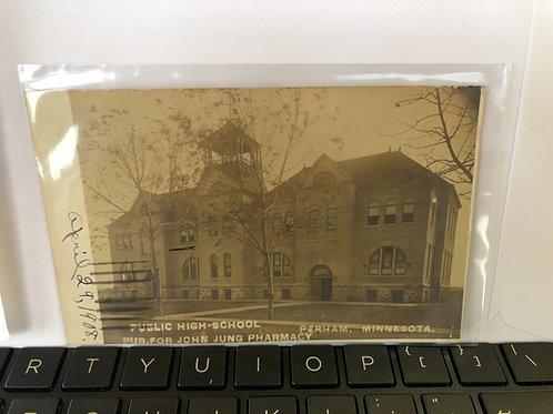 Perham, Minnesota - Public High school  1908