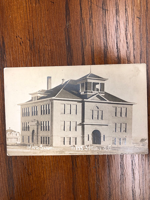 Wess springs , South Dakota - HIgh school 1909