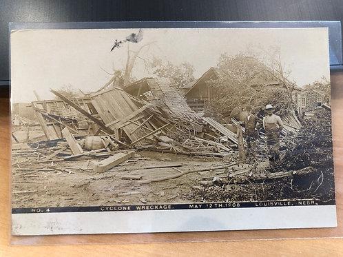 Louisville, Nebraska Cyclone Damage May 12, 1908
