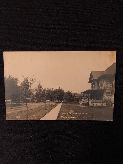 Peotone Illinois - Lincoln Avenue 1913