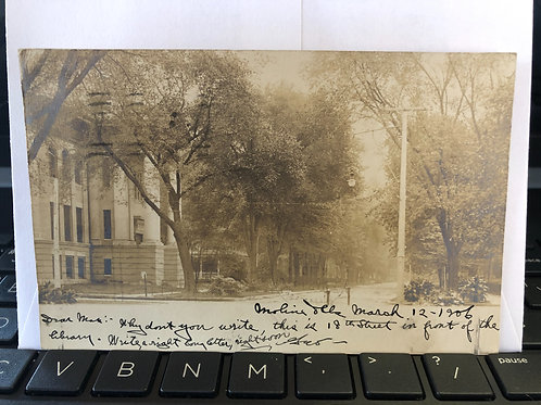 Moline, Illinois - 18th street in front of library 1906
