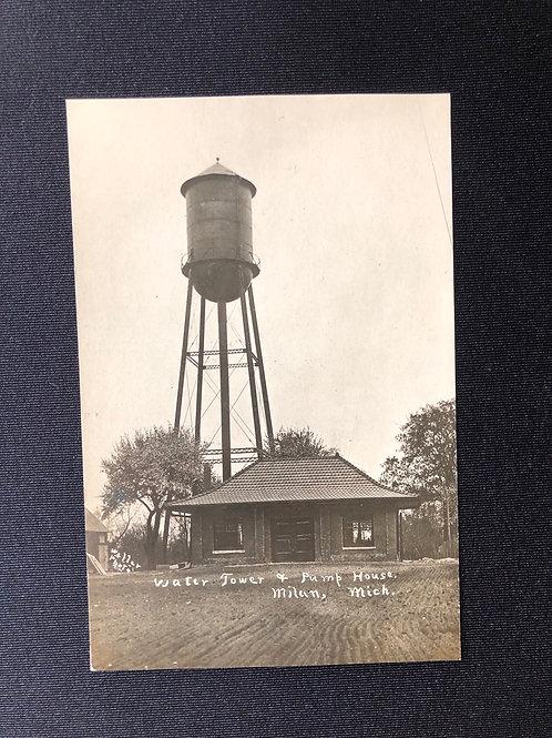 Milan, Michigan - water tower & pumphouse