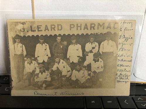 Weatherby, Missouri - Baseball team 1910