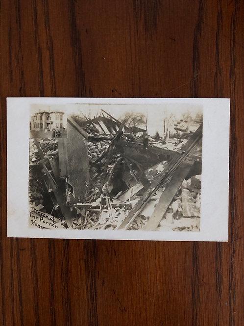 Burlington Wisconsin wreck of Parker home