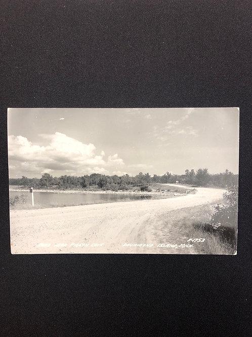Drummond island, Michigan - road near pigeon cove