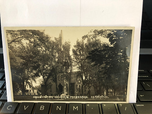 Fairbury, Illinois - Presbyterian church 1912