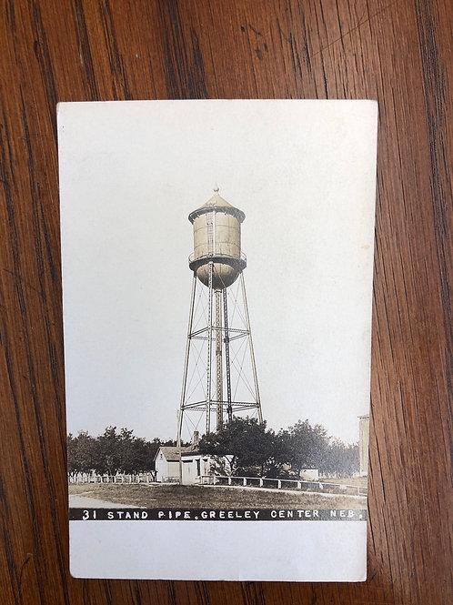 Greeley Center, Nebraska - Stand Pipe water tower 1912