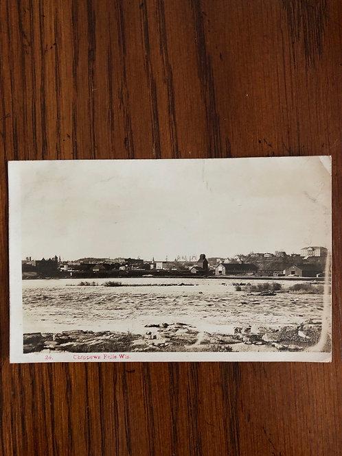 Chippewa Falls Wisconsin Townview and falls 1909